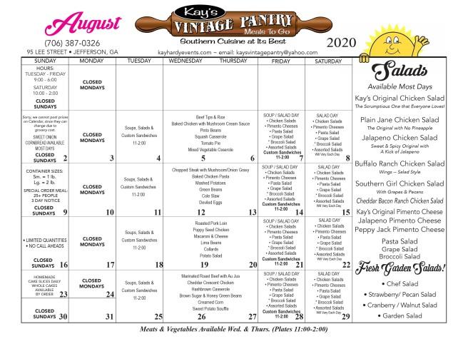 calendar menu August 2020 FINAL